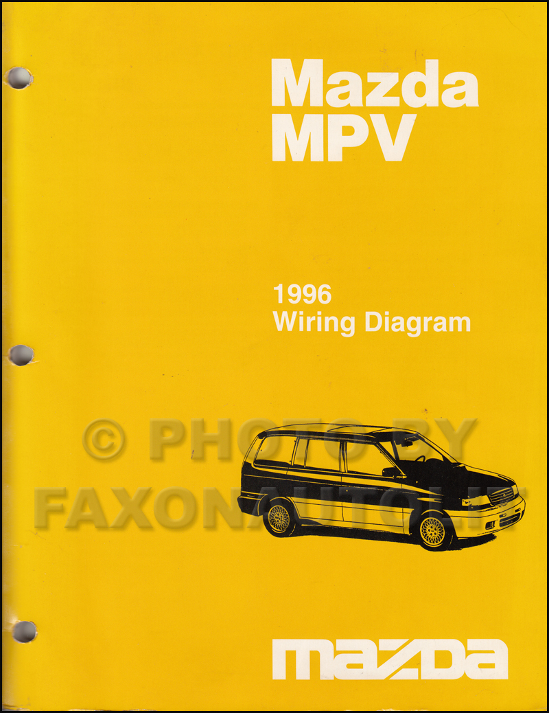 1996 Mazda Mpv Repair Shop Manual Original