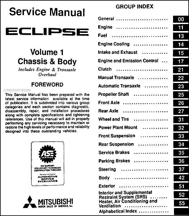 1996MitsubishiEclipseORMSet TOC1 1996 mitsubishi eclipse repair shop manual set original 2007 mitsubishi eclipse radio wiring diagram at reclaimingppi.co