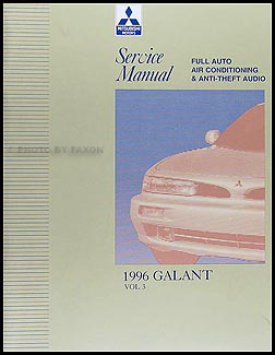 1996 Mitsubishi Galant A/C and Anti-Theft Radio Repair Shop Manual Supp. Mitsubishi