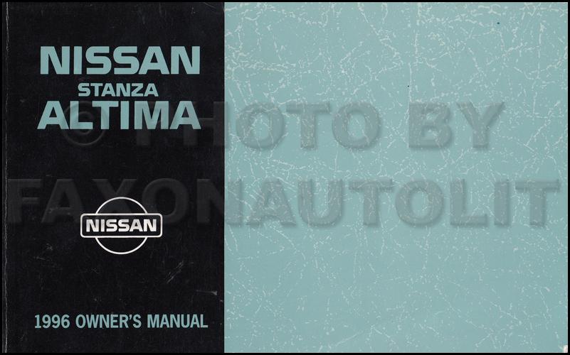 1996 Nissan Stanza Altima Repair Shop Manual Original