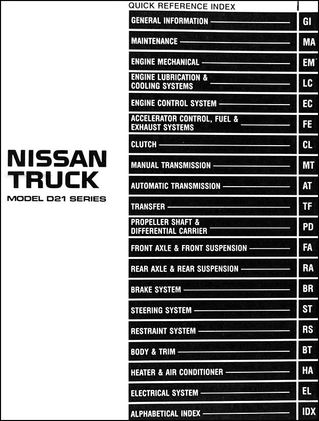 1996 Nissan Pickup Truck Repair Shop Manual Original