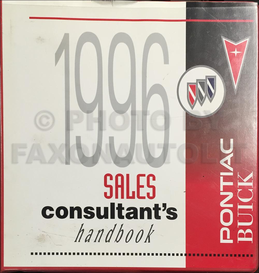 1996 Pontiac/Buick Color and Upholstery Dealer Album Original Canadian