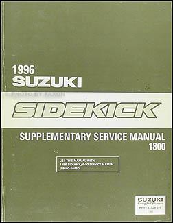1994-1995 suzuki sidekick repair shop manual supplement original.