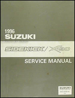 1996 suzuki sidekick 1600 x 90 repair shop manual original rh faxonautoliterature com DRZ 400 Wiring Diagram 2012 Chevy Truck Wiring Diagram