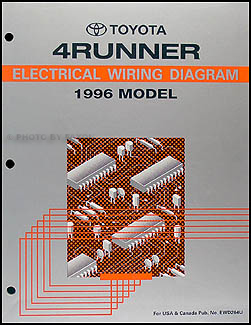 1996 toyota 4runner wiring diagram manual original rh faxonautoliterature com  1996 4runner stereo wiring diagram