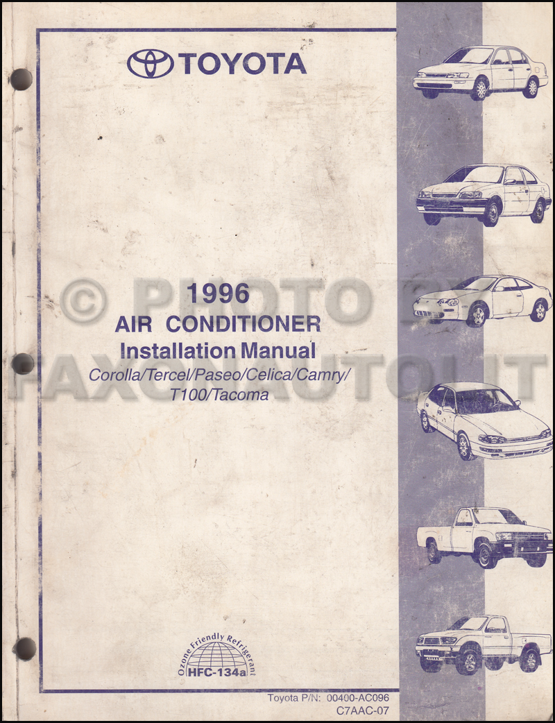 1996 Celica Wiring Diagram Reveolution Of Ignition Toyota A C Installation Manual Original Corolla Tercel Paseo Rh Faxonautoliterature Com 2000 Stereo