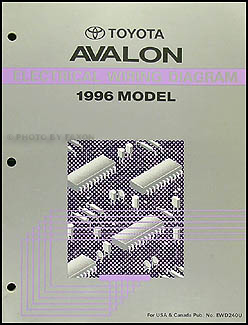 1996 toyota avalon wiring diagram manual original rh faxonautoliterature com 2006 Toyota Avalon Fuse Box Diagram 96 toyota avalon owners manual