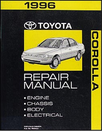 1996 toyota corolla repair shop manual original rh faxonautoliterature com 1991 Toyota Corolla Tires 1994 Toyota Corolla Owners Manual