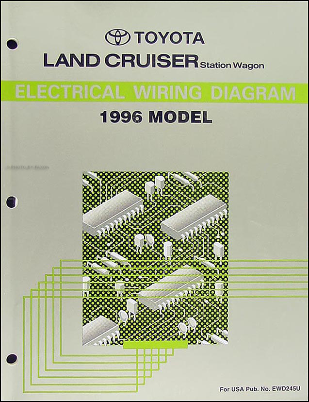 1996 Toyota Land Cruiser Wiring Diagram Manual Original