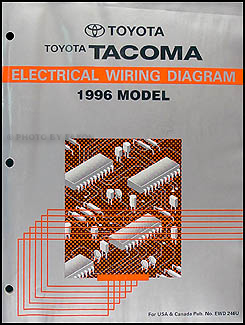 1996 Toyota Taa Pickup    Wiring       Diagram    Manual Original