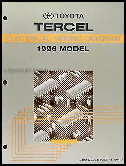 1996 toyota tercel wiring diagram manual original rh faxonautoliterature com 1994 Toyota Pickup Parts Diagram 1994 Toyota Corolla Engine Diagram