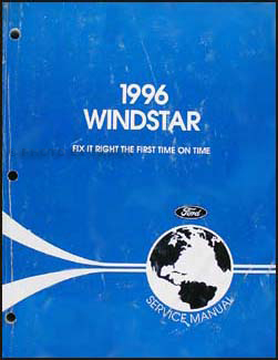 1996 1997 ford windstar repair shop manual original. Black Bedroom Furniture Sets. Home Design Ideas