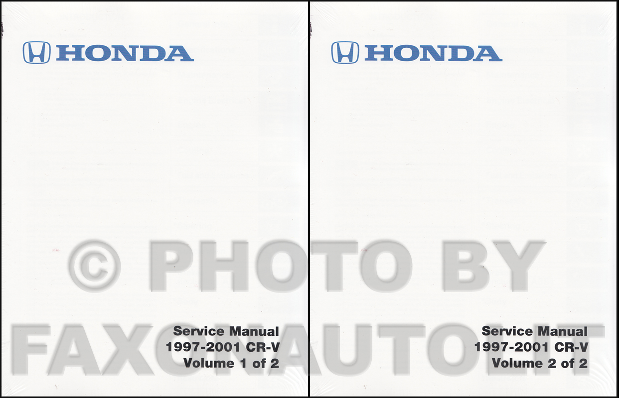1997-2001 Honda CR-V Repair Manual Original