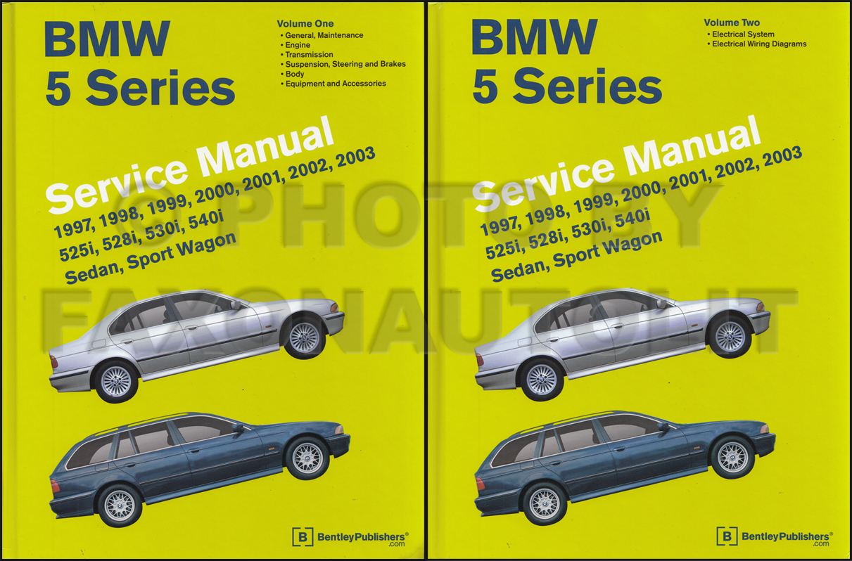 1997 2003 bmw 5 series bentley repair shop manual 2 volume set rh faxonautoliterature com