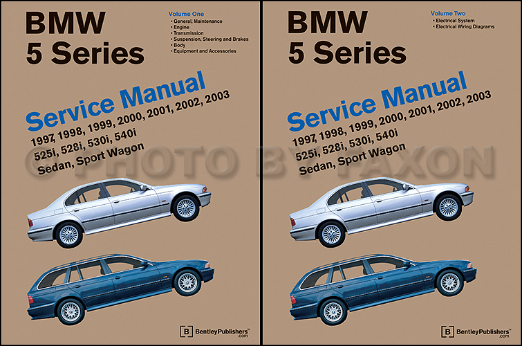 1997 2003 bmw 5 series bentley repair shop manual 2 volume set. Black Bedroom Furniture Sets. Home Design Ideas