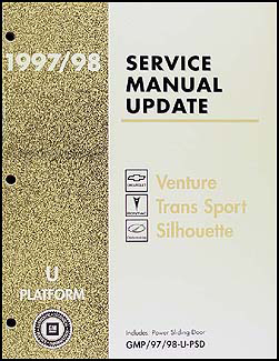 1997-1998 Venture/Trans Sport/Silhouette Power Sliding Door Repair Shop Manual