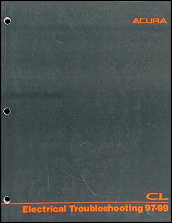 1997 Acura CL Electrical Troubleshooting Manual Original Acura