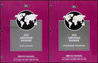 ford aerostar  ranger repair shop manual original  volume set