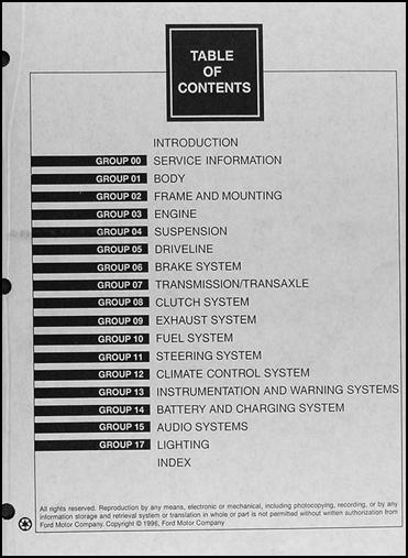 1997 ford contour and mercury mystique repair shop manual. Black Bedroom Furniture Sets. Home Design Ideas