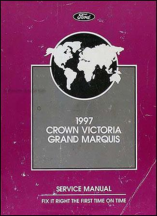 1997 crown victoria and grand marquis repair shop manual. Black Bedroom Furniture Sets. Home Design Ideas