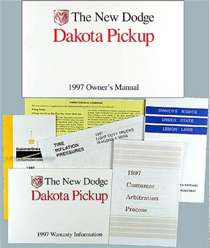 1997 dodge dakota pickup truck original owner s manual rh faxonautoliterature com 1999 Dodge Dakota 1998 Dodge Dakota