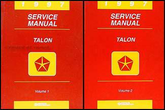 1997 eagle talon repair shop manual original 2 volume set rh faxonautoliterature com Nissan Factory Service Manual Auto Mobile Manuals