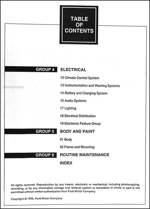 Diagram  1991 Mercury Capri Service Repair Shop Manual
