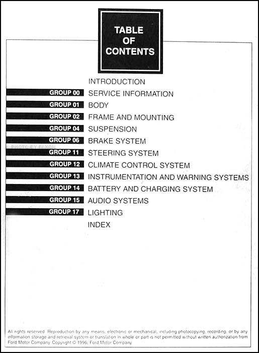 1997 Ford F 250 HD F 350 F Super Duty Service Manual 2