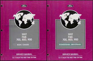 ford b700 900 service manuals shop owner maintenance and 1997 ford f700 f800 ft900 b700 b800 truck repair shop manual set