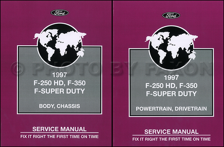 Ford F  Hd F  F Super Duty Service Manual  Volume Set Factory Reprint