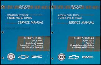 1997 chevy gmc topkick kodiak and b7 repair shop manual original 2 volume set. Black Bedroom Furniture Sets. Home Design Ideas