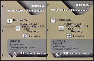 1997 Bonneville, 88, 88 LS, LSS, Regency, Le Sabre Repair Shop Manual Set