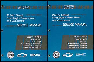1997GMP32P42Set 1997 p32 & p42 stepvan & motorhome chassis repair shop manual set Basic Electrical Wiring Diagrams at virtualis.co
