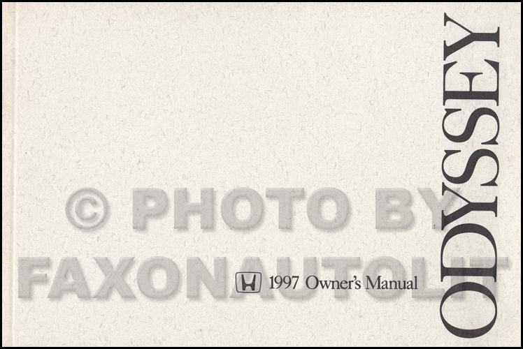 1997 honda odyssey owners manual original oem mini van owner guide book ex lx ebay  Types of Manuals