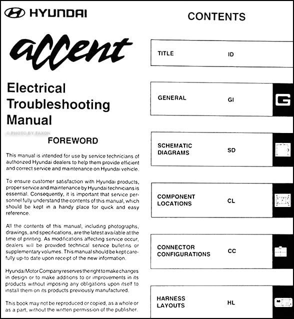 1997HyundaiAccentETM TOC 1997 hyundai accent fuse box diagram free wiring diagram for you \u2022