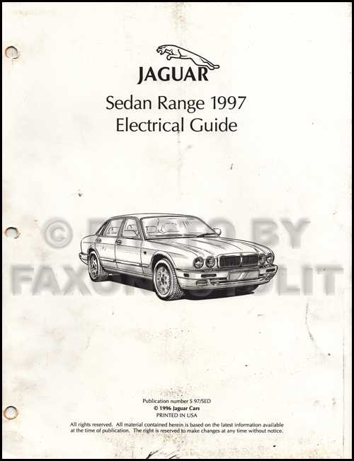 1997 jaguar xj6 electrical guide wiring diagram original rh faxonautoliterature com jaguar xj6 electrical diagram jaguar xj6 series 2 wiring diagram