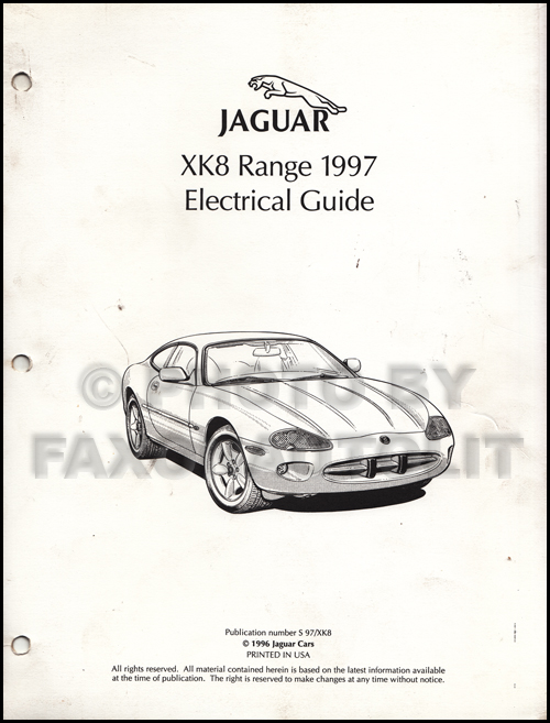 1997 jaguar xk8 electrical guide wiring diagram original rh faxonautoliterature com jaguar xk8 seat wiring diagram jaguar xk8 seat wiring diagram