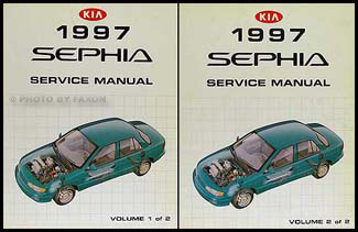 1997 kia sephia repair shop manual 2 volume set original rh faxonautoliterature com Kia Spectra manual kia sephia 1997 español