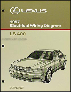 1997 Lexus LS 400 Wiring Diagram Manual Original