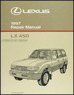 1997 lexus lx 450 repair shop manual original rh faxonautoliterature com 1997 Lexus ES 300 1997 Lexus ES 300