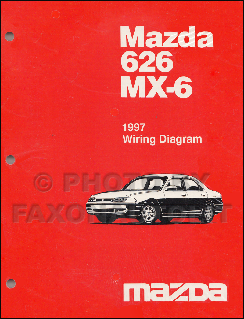 1997 mazda 626 and mx 6 electrical troubleshooting manual original