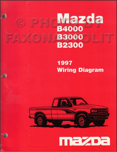 1997 mazda b4000 b3000 b2300 pickup truck wiring diagram. Black Bedroom Furniture Sets. Home Design Ideas