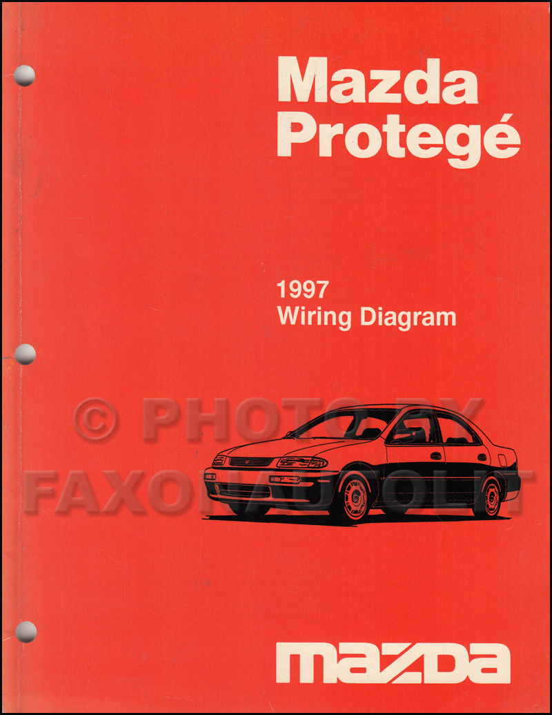 1997 mazda protege wiring diagram manual original rh faxonautoliterature  com 1997 mazda b2300 radio wiring diagram
