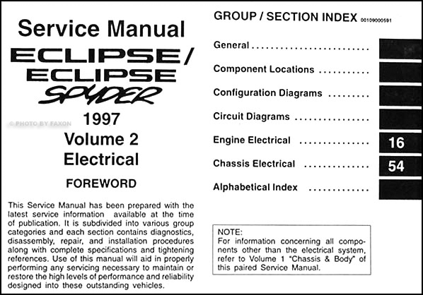 wiring diagram for 1997 mitsubishi eclipse spyder wiring diagram for 2003 mitsubishi eclipse 1997 mitsubishi eclipse/eclipse spyder repair shop manual ...