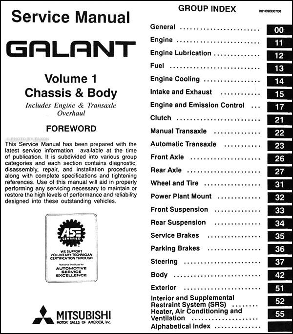 1997 mitsubishi galant repair shop manual set original on wiring diagram mitsubishi galant 2001 2001 Mitsubishi Galant Fuse Box Diagram 2002 Mitsubishi Galant Electrical Schematic