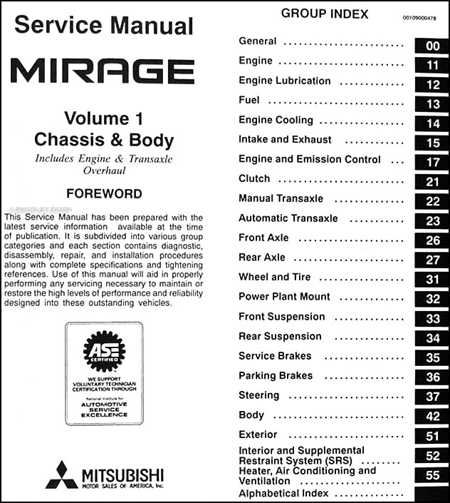1997 mitsubishi mirage repair shop manual set original rh faxonautoliterature com 1992 Chevy Alternator Wiring Diagram 1992 Chevy Alternator Wiring Diagram