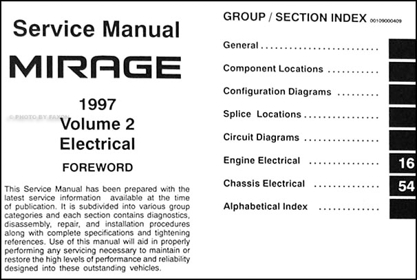 1997 mitsubishi mirage repair shop manual set original rh faxonautoliterature com mitsubishi mirage radio wiring diagram 1997 mitsubishi mirage wiring diagram