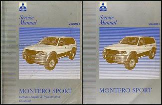 1999 mitsubishi montero sport service repair manual software