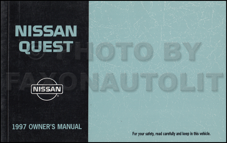 1997 nissan quest van owner s manual original rh faxonautoliterature com manual nissan quest 1997 español 1998 Nissan Quest