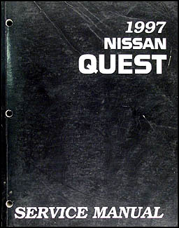 1997 nissan quest van repair shop manual original rh faxonautoliterature com 1995 Nissan Quest 1997 nissan quest repair manual pdf